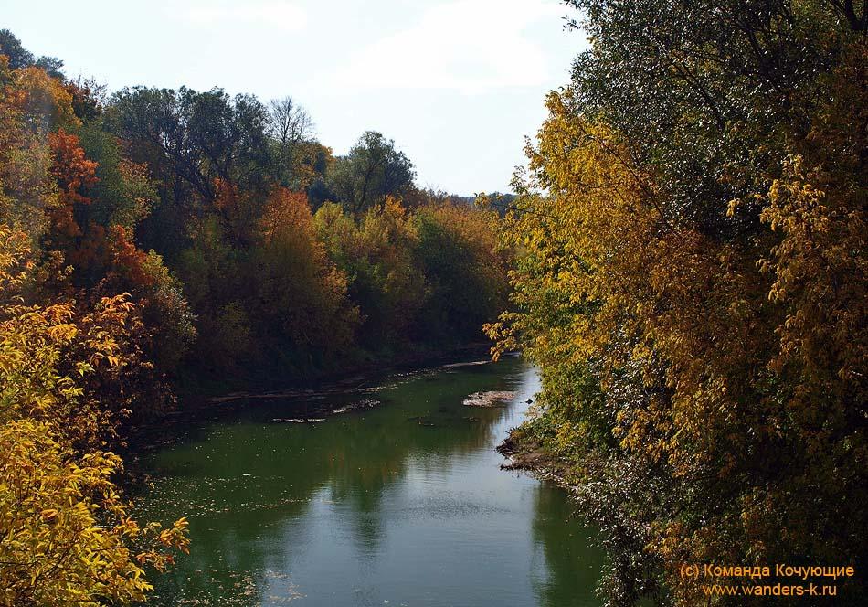 река Казанка - золотая осень